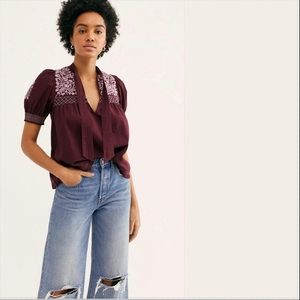 Dreaming About You Cotton Embroidered Top
